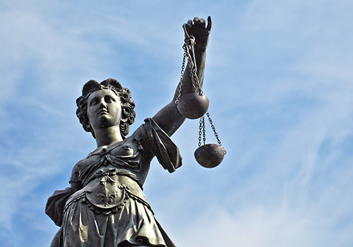 pre-filing Statue of Lady Justice